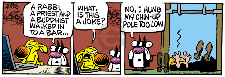 Comic Strip Mike Peters  Mother Goose and Grimm 2016-04-11 joke