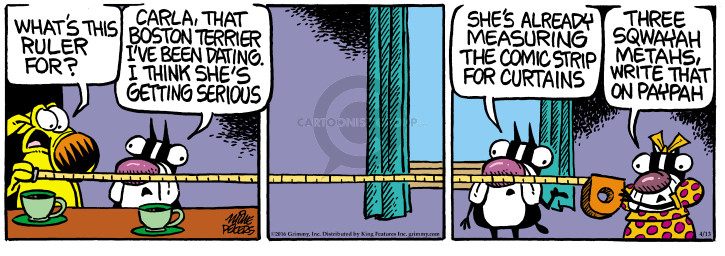 Comic Strip Mike Peters  Mother Goose and Grimm 2016-04-13 Boston Terrier