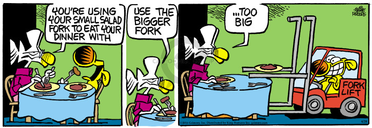Comic Strip Mike Peters  Mother Goose and Grimm 2016-04-28 lift