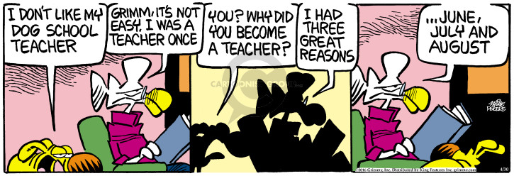 Comic Strip Mike Peters  Mother Goose and Grimm 2016-04-30 teacher
