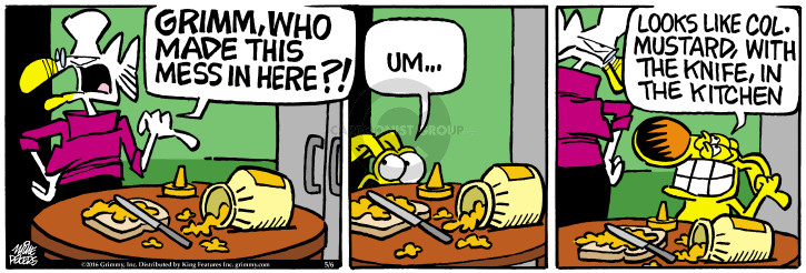 Comic Strip Mike Peters  Mother Goose and Grimm 2016-05-06 kitchen