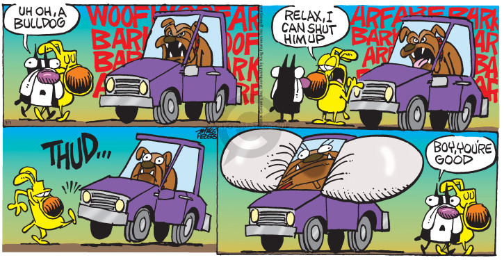 Cartoonist Mike Peters  Mother Goose and Grimm 2016-05-01 bark