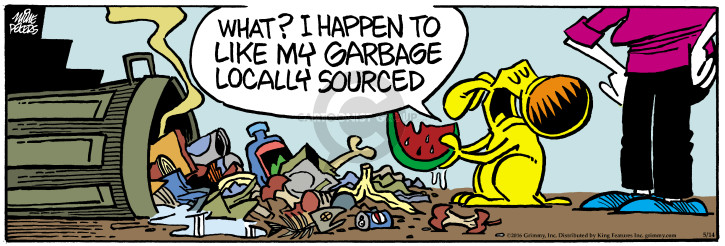 Comic Strip Mike Peters  Mother Goose and Grimm 2016-05-14 food waste
