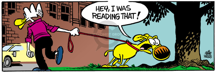 Comic Strip Mike Peters  Mother Goose and Grimm 2016-05-16 sniff