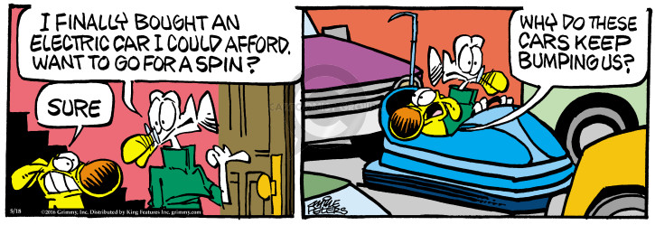 Cartoonist Mike Peters  Mother Goose and Grimm 2016-05-18 goose bump