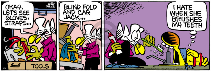 Comic Strip Mike Peters  Mother Goose and Grimm 2016-05-26 blind