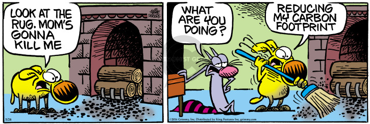 Comic Strip Mike Peters  Mother Goose and Grimm 2016-05-28 rug