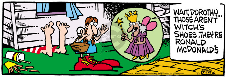 Cartoonist Mike Peters  Mother Goose and Grimm 2016-06-02 wizard