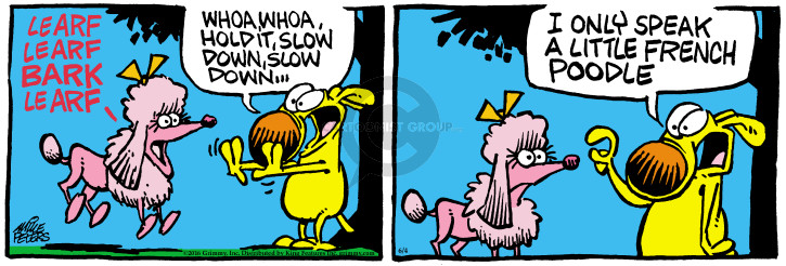 Cartoonist Mike Peters  Mother Goose and Grimm 2016-06-04 bark