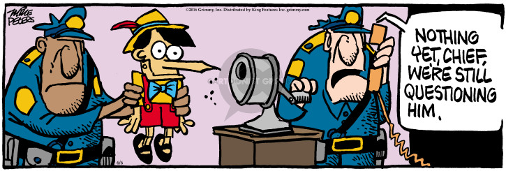 Comic Strip Mike Peters  Mother Goose and Grimm 2016-06-06 policeman