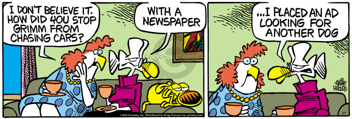 Comic Strip Mike Peters  Mother Goose and Grimm 2016-06-07 advertising