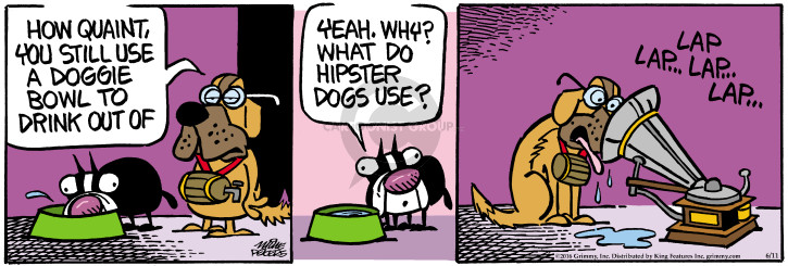 Comic Strip Mike Peters  Mother Goose and Grimm 2016-06-11 lap dog