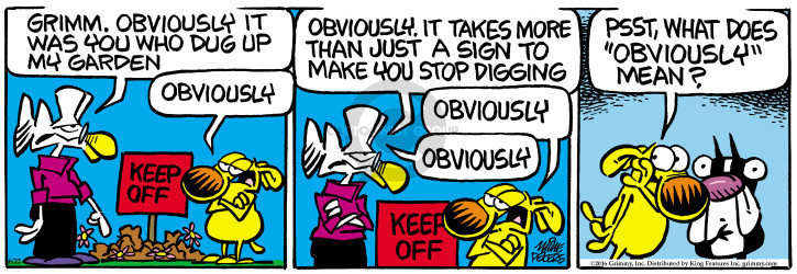 Comic Strip Mike Peters  Mother Goose and Grimm 2016-06-22 means