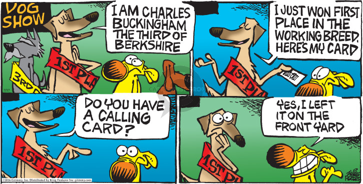 Cartoonist Mike Peters  Mother Goose and Grimm 2016-07-17 dog show