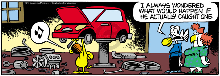 Comic Strip Mike Peters  Mother Goose and Grimm 2016-06-27 happen