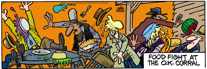 Comic Strip Mike Peters  Mother Goose and Grimm 2016-07-01 food fight