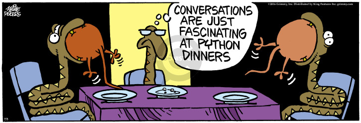 Comic Strip Mike Peters  Mother Goose and Grimm 2016-07-05 meal