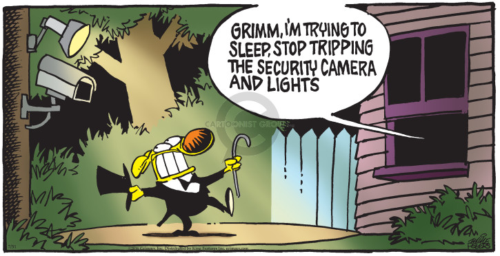 Cartoonist Mike Peters  Mother Goose and Grimm 2016-07-31 surveillance