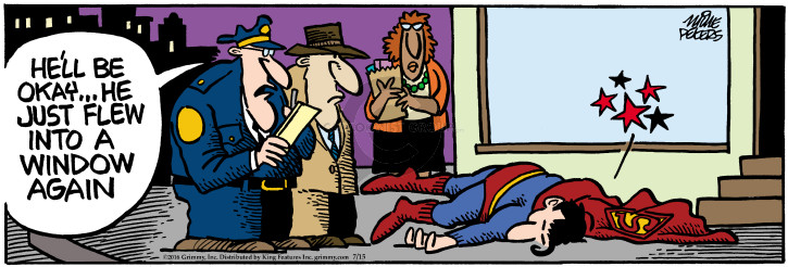 Comic Strip Mike Peters  Mother Goose and Grimm 2016-07-15 Superman