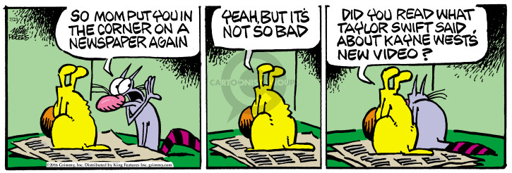 Comic Strip Mike Peters  Mother Goose and Grimm 2016-07-23 punish