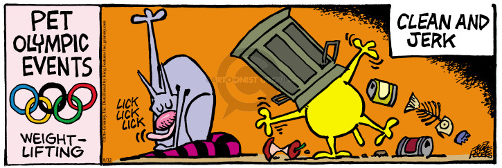 Cartoonist Mike Peters  Mother Goose and Grimm 2016-08-12 grooming