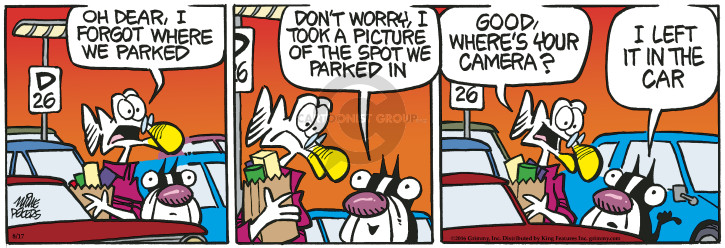 Cartoonist Mike Peters  Mother Goose and Grimm 2016-08-17 camera