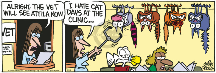 Comic Strip Mike Peters  Mother Goose and Grimm 2016-08-19 veterinarian