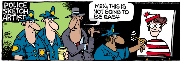 Cartoonist Mike Peters  Mother Goose and Grimm 2016-08-22 police