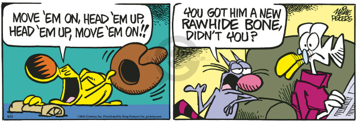 Comic Strip Mike Peters  Mother Goose and Grimm 2016-08-25 bone