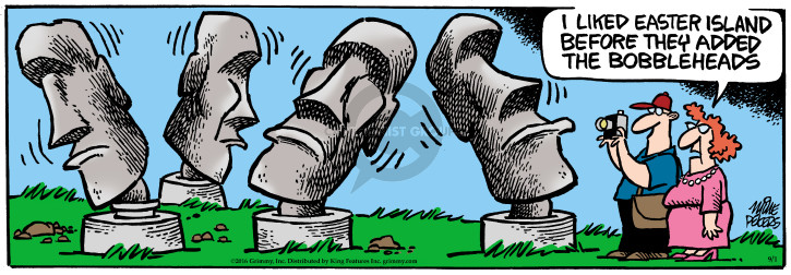 Comic Strip Mike Peters  Mother Goose and Grimm 2016-09-01 bobblehead