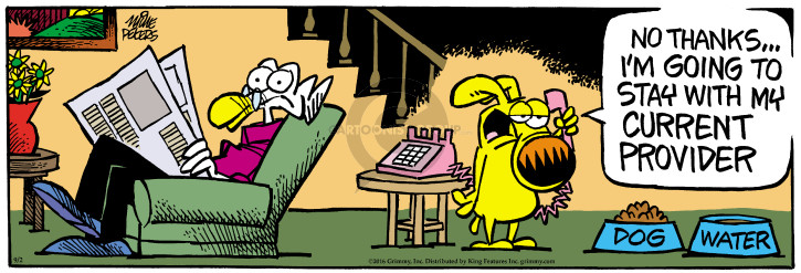Comic Strip Mike Peters  Mother Goose and Grimm 2016-09-02 stay