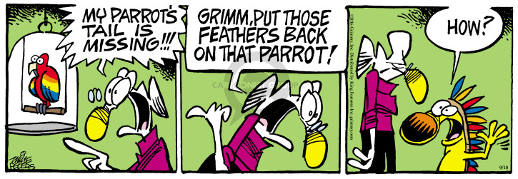 Cartoonist Mike Peters  Mother Goose and Grimm 2016-09-10 pull