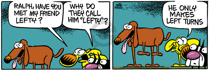 Comic Strip Mike Peters  Mother Goose and Grimm 2016-09-17 meet