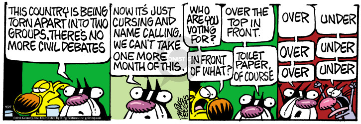Comic Strip Mike Peters  Mother Goose and Grimm 2016-09-27 election debate