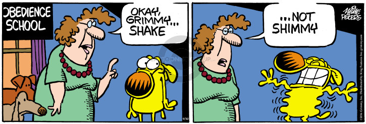 Cartoonist Mike Peters  Mother Goose and Grimm 2016-09-30 dog obedience