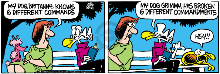 Cartoonist Mike Peters  Mother Goose and Grimm 2016-10-01 bad dog