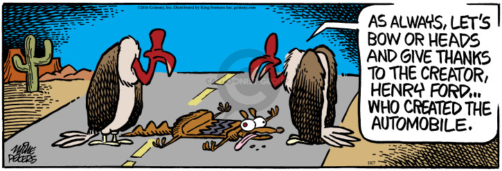 Comic Strip Mike Peters  Mother Goose and Grimm 2016-10-07 scavenger