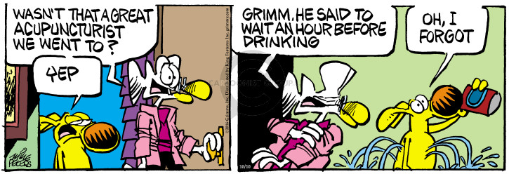 Comic Strip Mike Peters  Mother Goose and Grimm 2016-10-10 yep