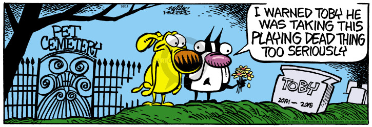 Comic Strip Mike Peters  Mother Goose and Grimm 2016-10-13 dog trick
