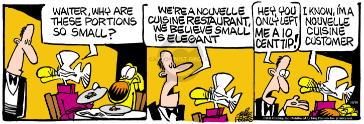 Comic Strip Mike Peters  Mother Goose and Grimm 2016-10-18 restaurant server