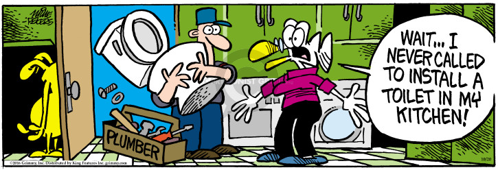Comic Strip Mike Peters  Mother Goose and Grimm 2016-10-20 drinking water