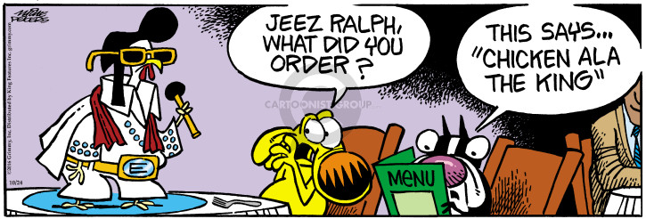 Comic Strip Mike Peters  Mother Goose and Grimm 2016-10-24 chicken