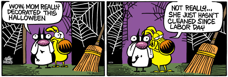 Comic Strip Mike Peters  Mother Goose and Grimm 2016-10-28 decoration