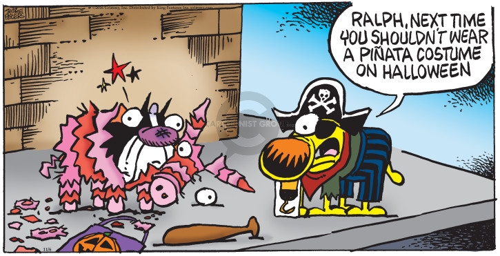 Comic Strip Mike Peters  Mother Goose and Grimm 2016-11-06 costume