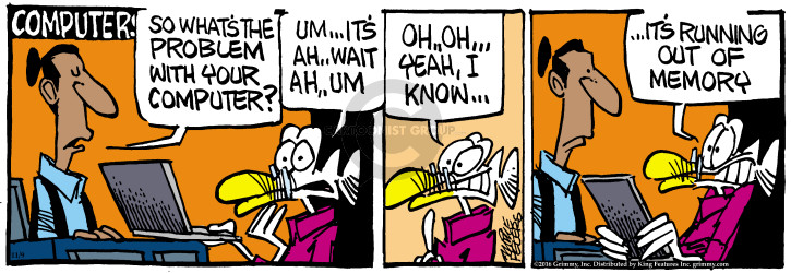 Comic Strip Mike Peters  Mother Goose and Grimm 2016-11-09 memory