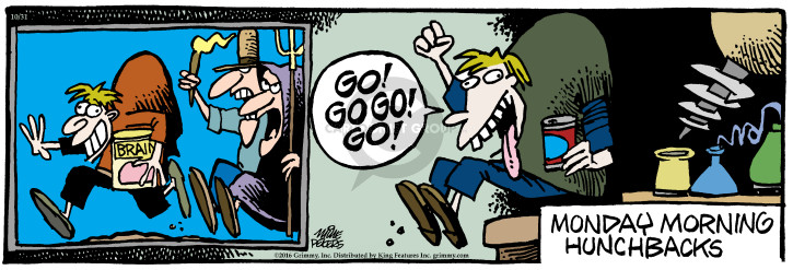 Comic Strip Mike Peters  Mother Goose and Grimm 2016-10-31 football quarterback