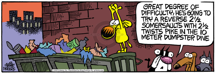 Comic Strip Mike Peters  Mother Goose and Grimm 2016-11-01 twist