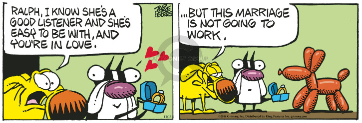 Comic Strip Mike Peters  Mother Goose and Grimm 2016-11-15 listen