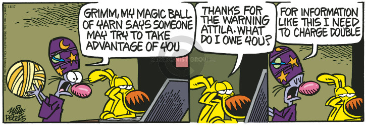 Comic Strip Mike Peters  Mother Goose and Grimm 2016-11-17 ball