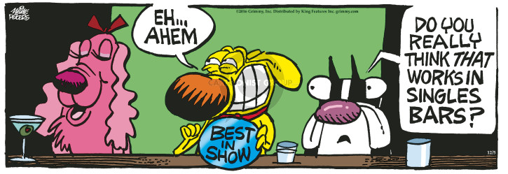 Cartoonist Mike Peters  Mother Goose and Grimm 2016-12-05 dog show